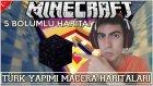 Minecraft Türkçe | Türk Yapımı Macera Haritası | Bölümlü Haritada Obsidyen Faciası