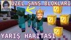 ÖZEL ŞANS BLOKLARI YARIŞ HARİTASI | Minecraft Türkçe Lucky Block