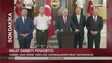 Başbakan Binali Yıldırım & Hulusi Akar Basın Açıklaması (16 Temmuz 2016)
