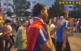 Dos Santos'un da Milli İrade için Türk Bayrağıyla Yürümesi