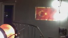 Türk bayrağı dalgalanma efekti
