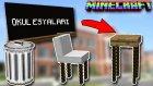 GERÇEKÇİ OKUL EŞYALARI !! (Minecraft)