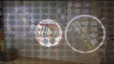 Logo Yansıt Dış Ortam Dönen Logo ve Lazer Video Sunumu