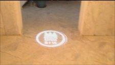 Logo Yansıt ic ortam sabit logo camlik sitesi apartman girisi logo yansıtma uygulamasi
