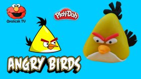 Angry Birds Chuck Sarı Kuş Play-Doh Oyun Hamuru İle Yapımı - Oyuncak Tv