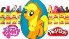 MLP Applejack Sürpriz Yumurta Oyun Hamuru - My Little Pony Emoji Maşa Cicibiciler