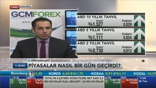 28.07.2016 - Bloomberg HT - 3. Seans - GCM Menkul Kıymetler Araştırma Müdürü Dr. Tuğberk Çitilci