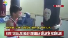 Kum Torbasına Fethullah Gülenin Fotoğrafını Koyup Yumruk Atmak