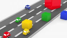 Dört Küçük Araba Ve Bloklar