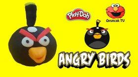 Angry Birds Siyah Kuş Bomb Play-Doh Oyun Hamuru ile Yapımı