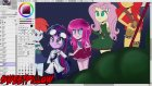 ?Speed Paint??~Happy Halloween~ ?Equestria Girls?