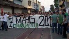 Bursasporlu Taraftarlar Göz Altına Alınan Eski Bursa Valisi Harput'u Protesto Etti