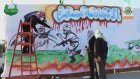 Filistinli Mücahidler Sprey Boyayla Resim Çalışması