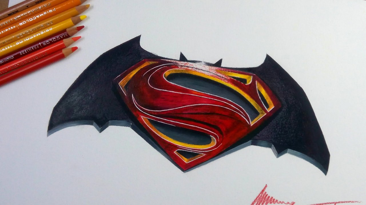 Batman V Superman Logo Cizimi Batman V Superman Drawing
