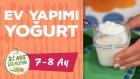 Bebekler Icin Inek Sutunden Ev Yapımı Yogurt Nasıl Yapılır? (7-8 Ay) | İki Anne Bir Mutfak