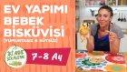 Ev Yapımı Bebek Biskuvisi Nasıl Yapılır? - Yumurtasız ve Sütsüz (7-8 Ay) | İki Anne Bir Mutfak