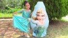 Karlar Ülkesi Kocaman Dev Sürpriz Yumurta Açma Frozen Elsa Anna Oyuncakları
