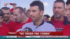 Kenan Sofuoğlu Bin Motosikletli İle Yenikapı Mitingine Geldi