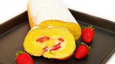 Çilekli Rulo Pasta - Semen Öner - Yemek Tarifleri