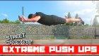 Flying Extreme Push Ups, Calisthenics, Street Workout Patlayıcı Şınav Cesitleri