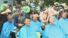 Güney Kore'de Tıraşlı Protesto