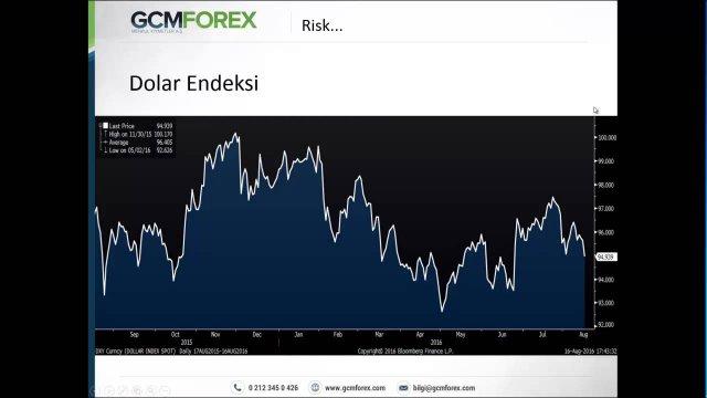 Küresel Piyasalarda Risk Algısı, Analizi ve Yönetimi / Dr. Tuğberk Çitilci / 16.08.2016