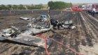 Tekirdağ Çorlu'da  Eğitim Uçağı Düştü: İlk Görüntüler