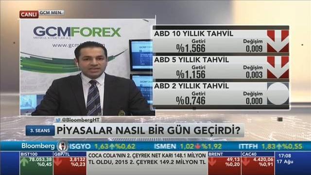 17.08.2016 - Bloomberg HT - 3. Seans - GCM Menkul Kıymetler Araştırma Müdürü Dr. Tuğberk Çitilci