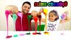 Slime Cümbüşü Tam 10 Bardak Rengarenk Slime Yaptık