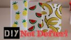 Meyve Baskılı Not Defteri / KENDİN YAP / DIY Summer Notebook