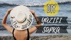 Yazılı Şapka Yapımı / Kendin Yap / Dıy Sequined Straw Hat