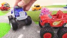 Çocuklar la oyun hikayeleri - Hotveels Arabalarından Blaze ve Crusher tatile çıkıyor.