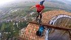 256 Metrelik Bacanın Üstünde Akrobatik Hareketlerini Sergileyen Jonglörler