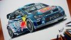 18 Saat Süren Volkswagen Polo R WRC Çizimi