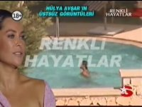 Hülya Avşar'ın Havuza Üstsüz Girmesi