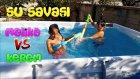 Vlog - Oyuncak Abi Kerem İle Melike Dev Havuzda Su Savaşındalar