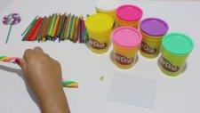 Play Doh Oyun Hamuru ile Tatlı Rengarenk Lolipop Yapımı