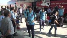 A Milli Futbol takımı Hırvatistan'a hareket etti