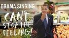 Obama'ya Demeçlerinden Can't Stop The Feeling Şarkısını Söylettiler