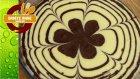 Çiçek Desenli Zebra Kek - Saniye Anne