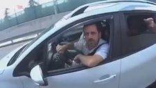Ankara'da Motorcunun Üzerine Araba Süren Trafik Canavarı