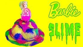 Barbie Dev Slime Gökkuşağı Elbise Tasarımı