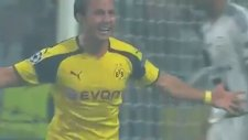 Mario Götze'nin Legia'ya attığı şık kafa golü