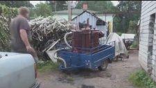 Odunla Çalışan Araba