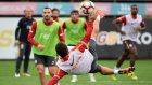 Sabri Sarıoğlu'nun antrenmanda attığı röveşata golü