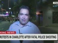 CNN Muhabirinin Canlı Yayında Omuzla Yere Serilmesi