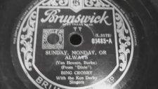 Bing Crosby - Sunday, Monday or Always
