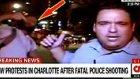 Canlı Yayında Omuzla Yere Serilen CNN Muhabiri