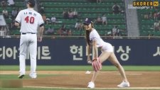 Güney Koreli Manken Güzelliği İle Tribünleri Mest Etti