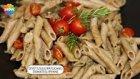 Diyet Usulü Patlıcanlı Domatesli Penne Tarifi